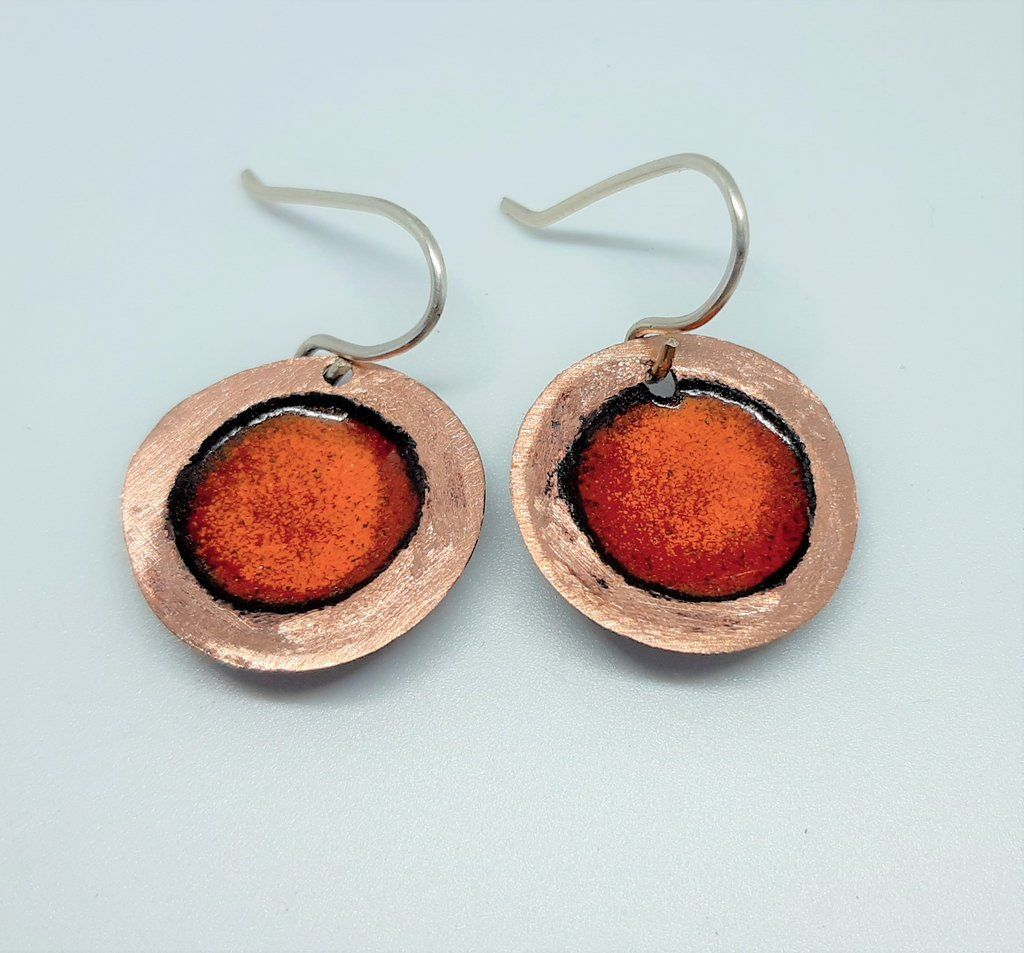 Beaten edge Earrings