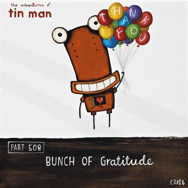 Bunch of Gratitude - Tin Man card