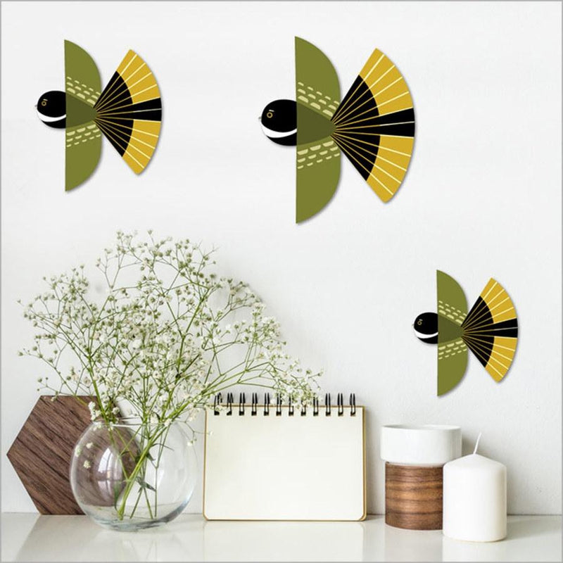 Flying Fantails - Set of 3