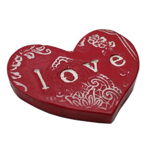 LOVE ceramic flat heart