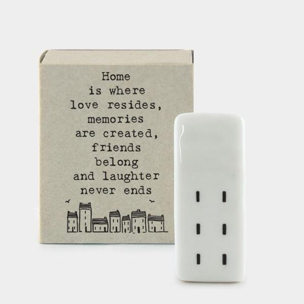 Matchbox Porcelain House - Home is where