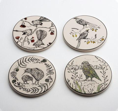 New Zealand Native Bird Coasters