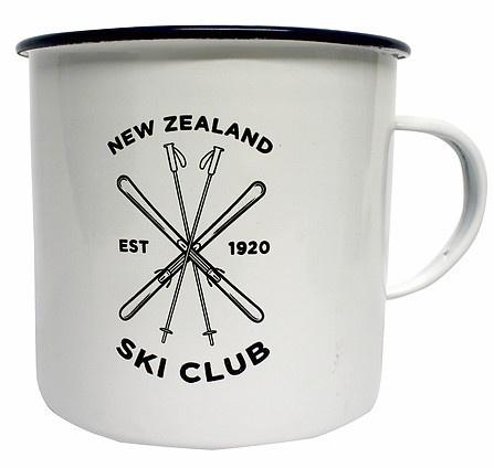 NZ Ski Club Enamel Mug