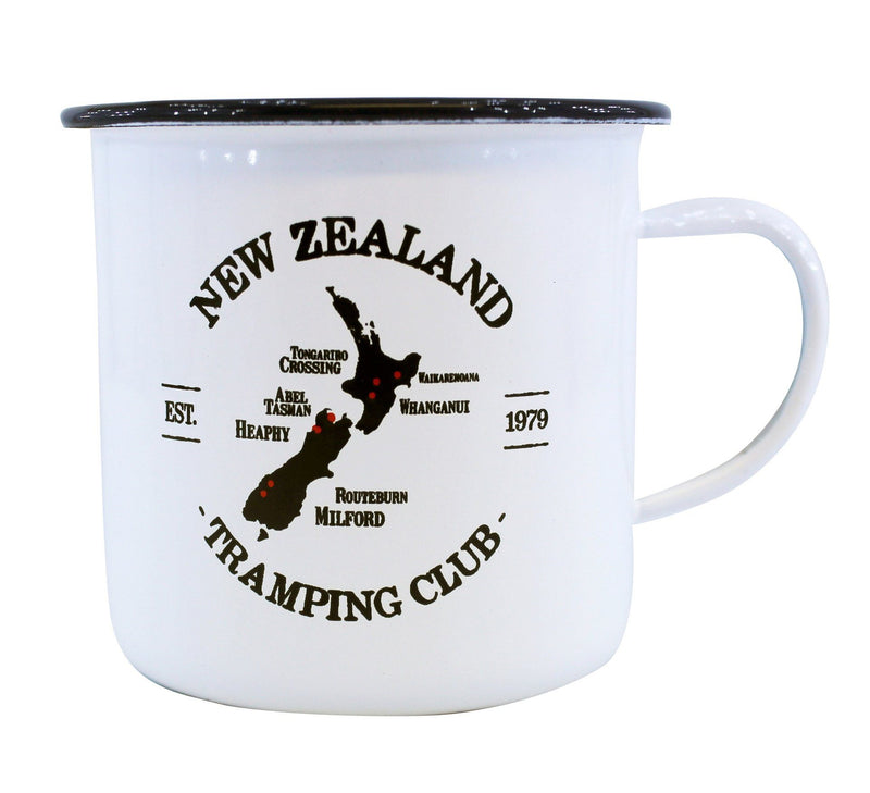 NZ Tramping Club Enamel Mug