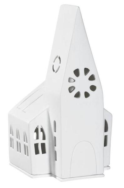 Porcelain Church Tealight Holder - large