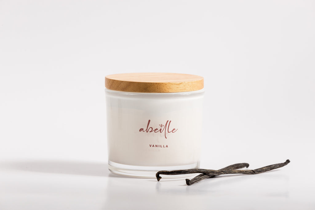 Abeille Premium Large Beeswax Candle - Vanilla