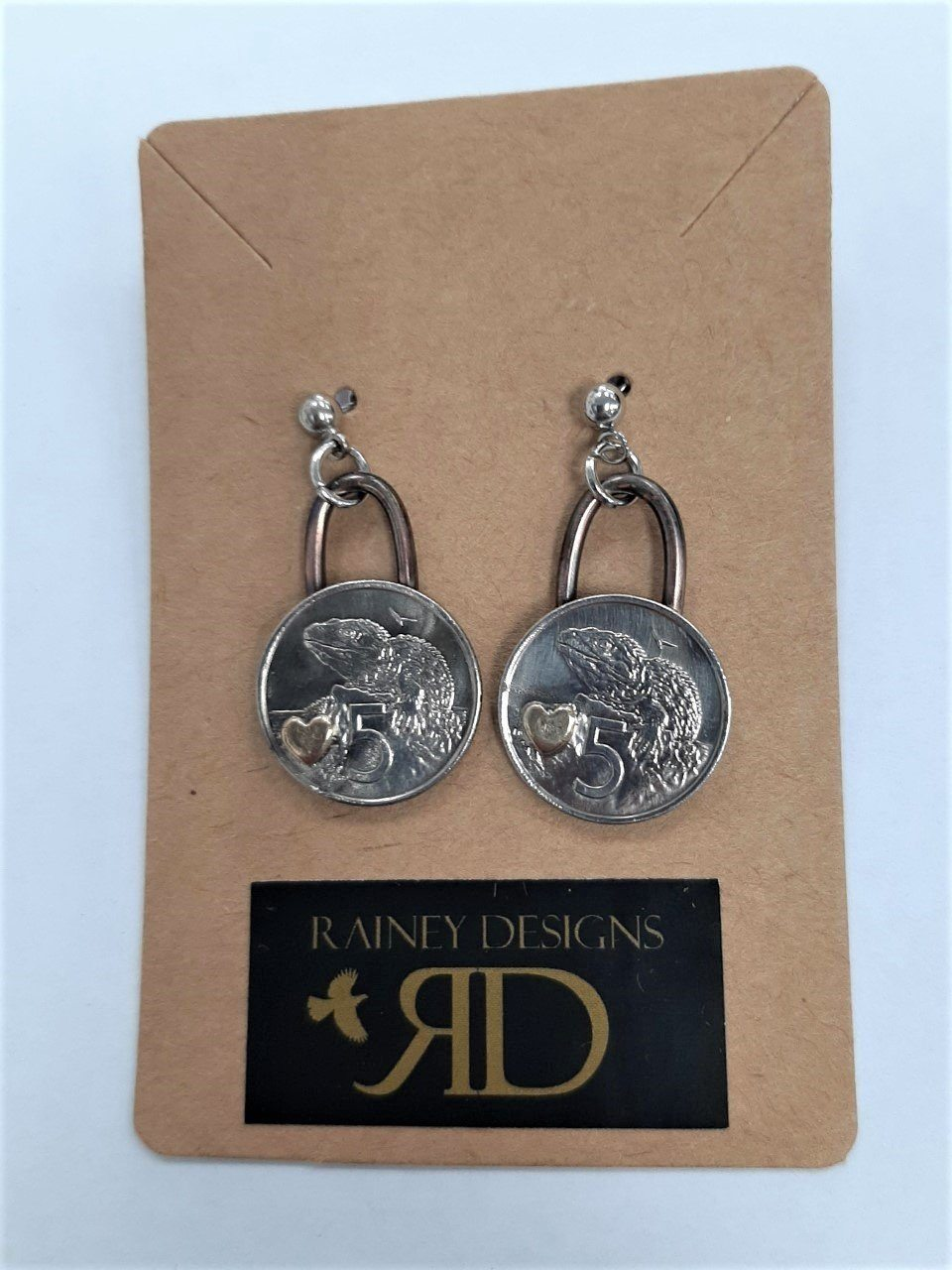 Re-minted Coin Earrings - 5 cents