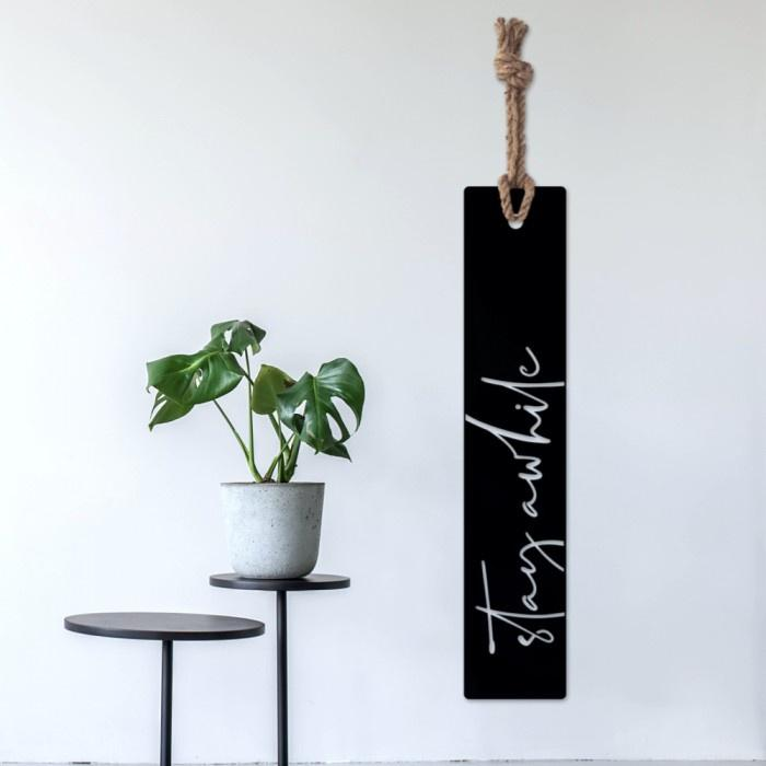 Stay Awhile - Steel Wall Art