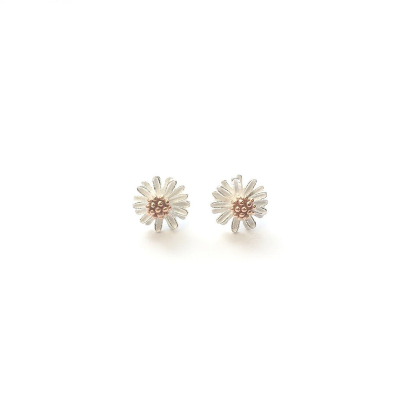 Sterling Silver Daisy w gold centre studs