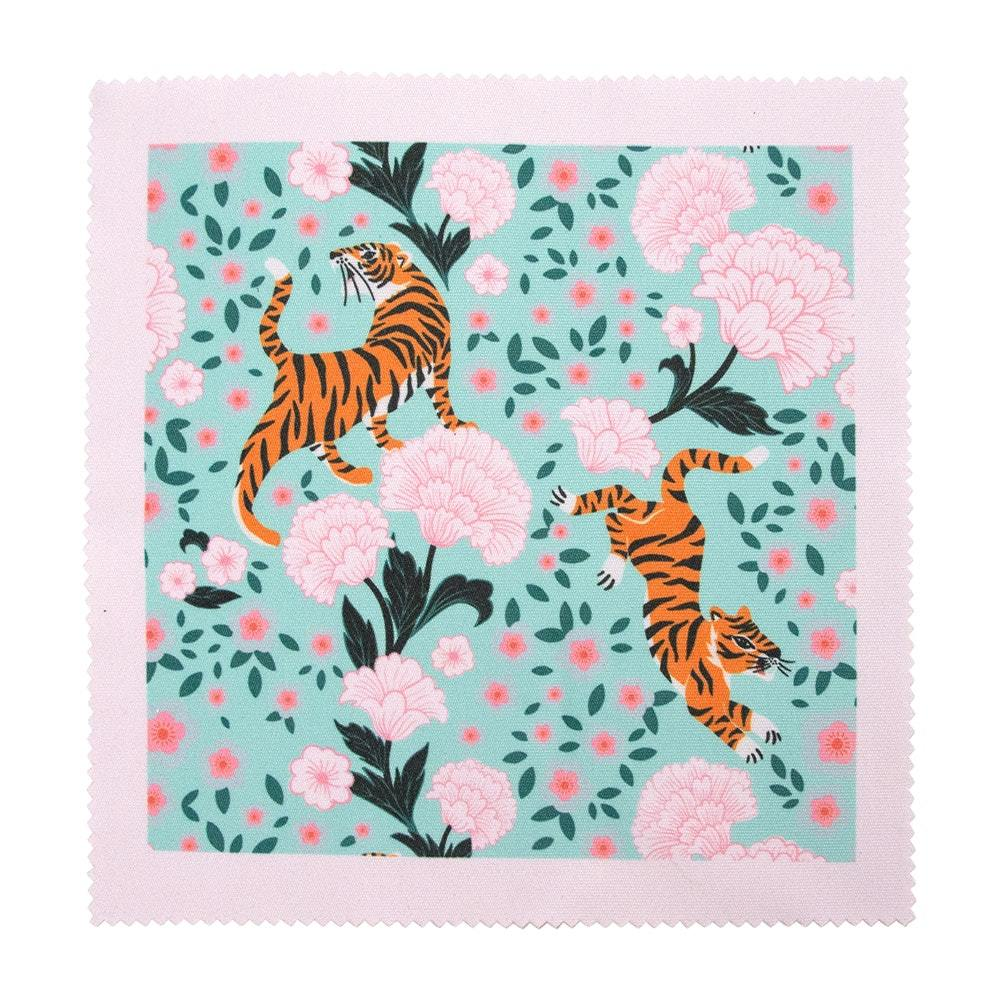 Tiger Glasses case & cleaning cloth Set