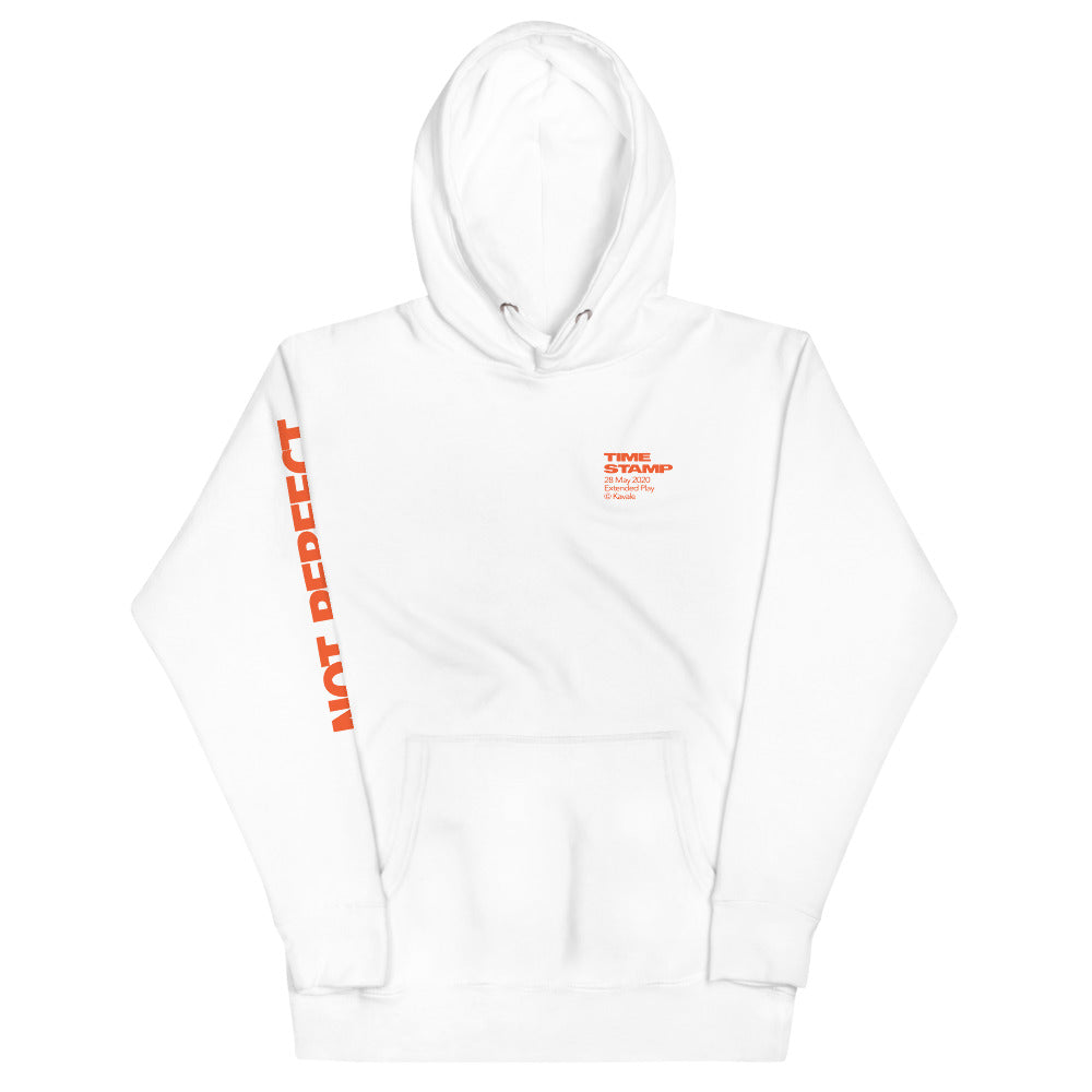 NOT PERFECT - White Hoodie