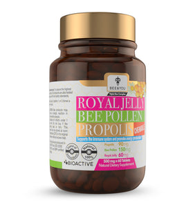 Propolis + Royal Jelly + Bee Pollen Tablets (Chewable)