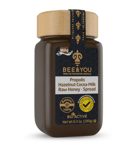 Propolis + Hazelnut + Cocoa + Honey Spread (Milk)