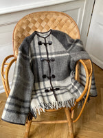 Load image into Gallery viewer, Grey & White Blanket Coat