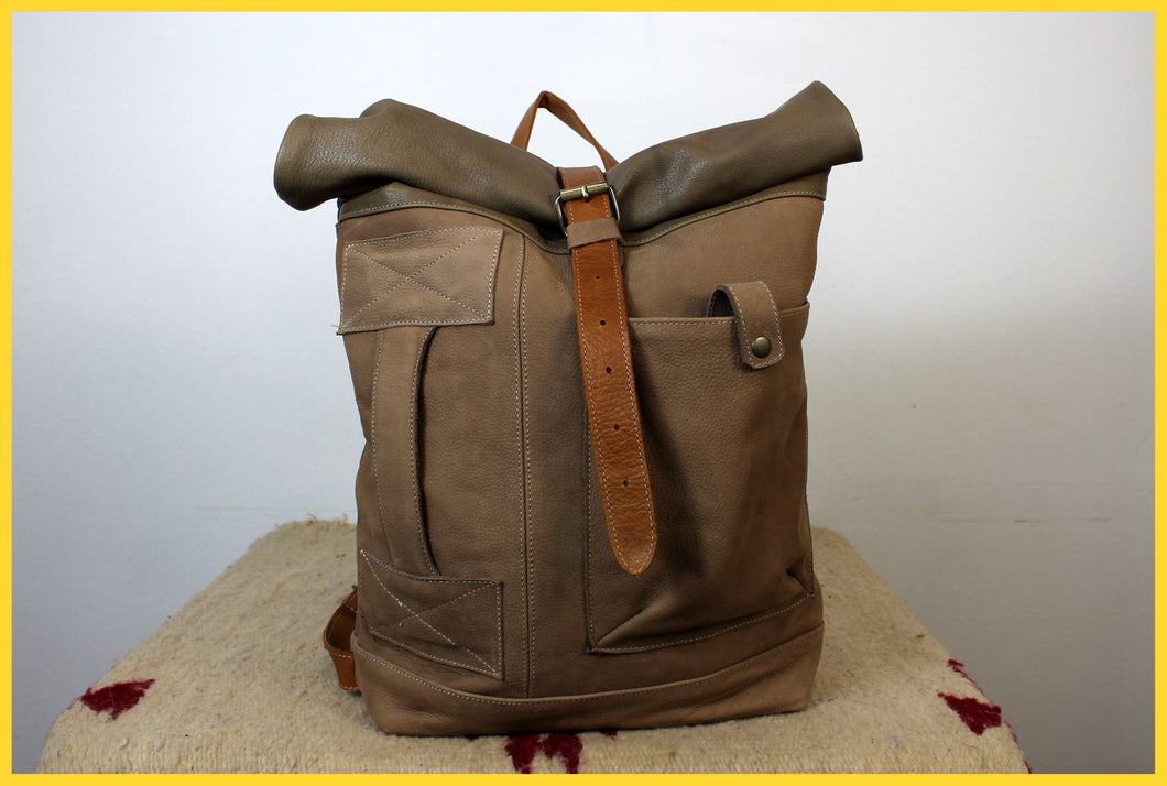 BACKPACK - Green & Brown