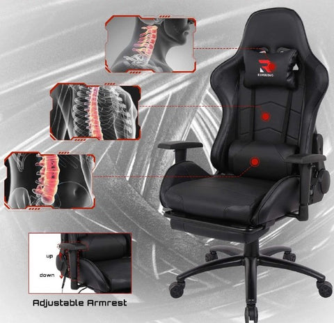 gaming racing chair, office chair, swivel chair, home office for back massage, lumber massage, neck massage