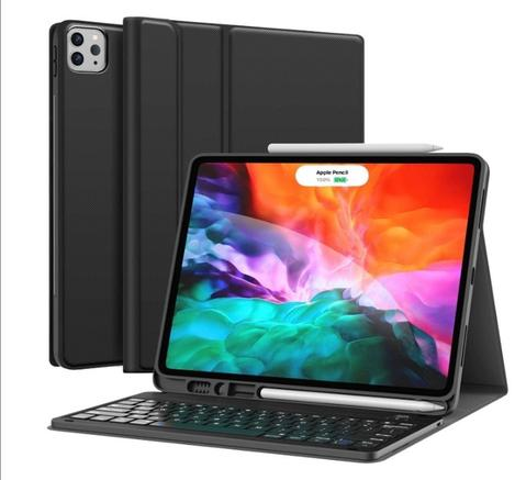 Ipad Case, ipad pro 12.9 case with keyboard2020 4th Generation, iPad Pro 12.9 Case with Keyboard 3rd Generation 2018 - Wireless Detachable - with Pencil Holder - Stand Cover - iPad Pro 12.9 inch Keyboard