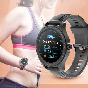 Blood Pressure Smart Watch With Heart Rate Monitor & Fitness, Step Tracker For Men, Women & Elderly