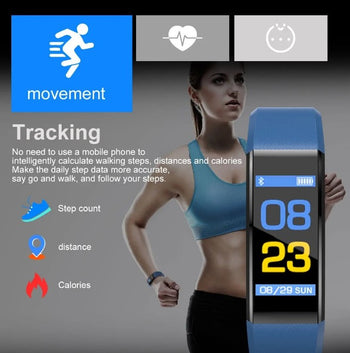 MaxVii Smart & fitness tracker watch for kids, ladies, gym workout, small writs, weight loss & with blood pressure, oxygen and heart rate monitor that's waterproof and stylish (2019-2020)