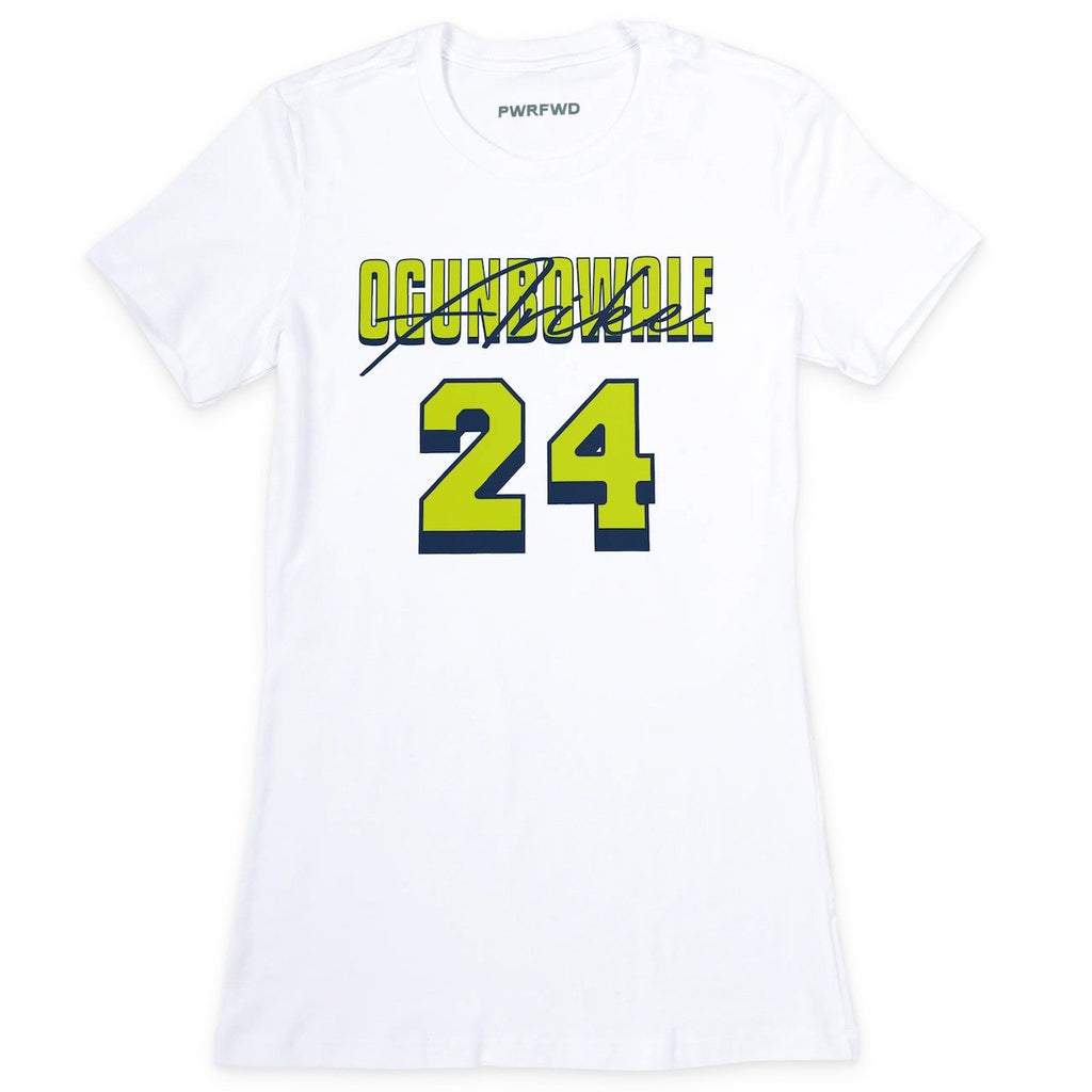 Arike Ogunbowale Signature Fitted White Tee