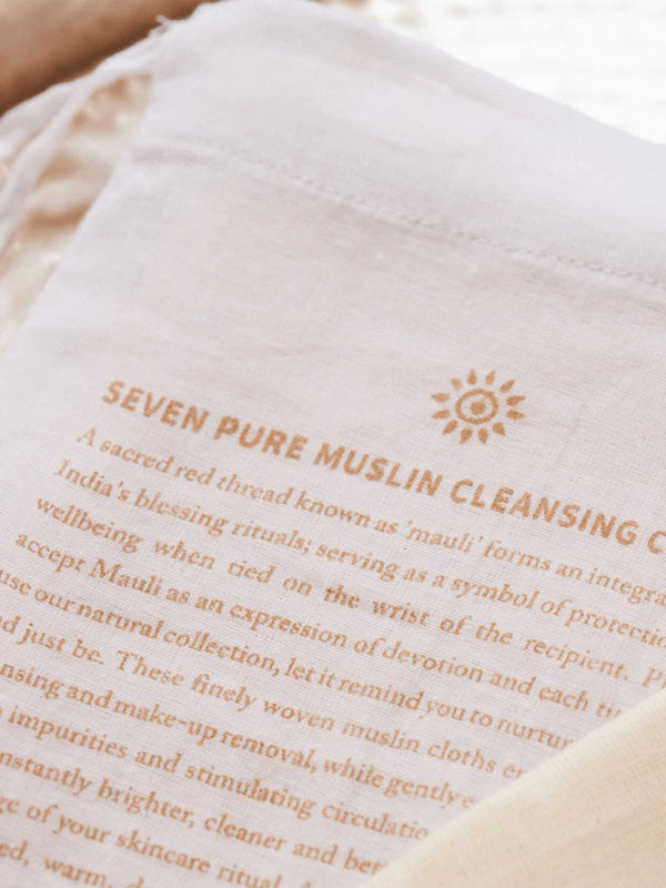 Set of 7 Pure Muslin Cloths