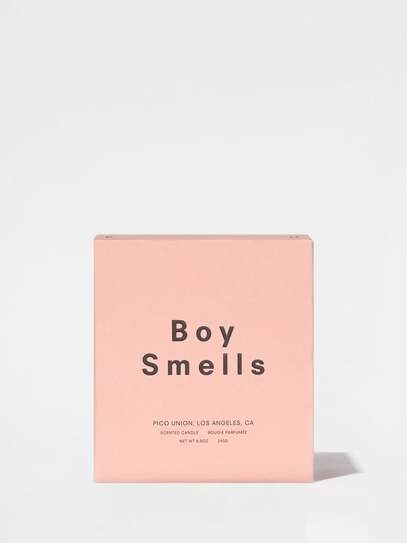 Boy Smells Candle Box