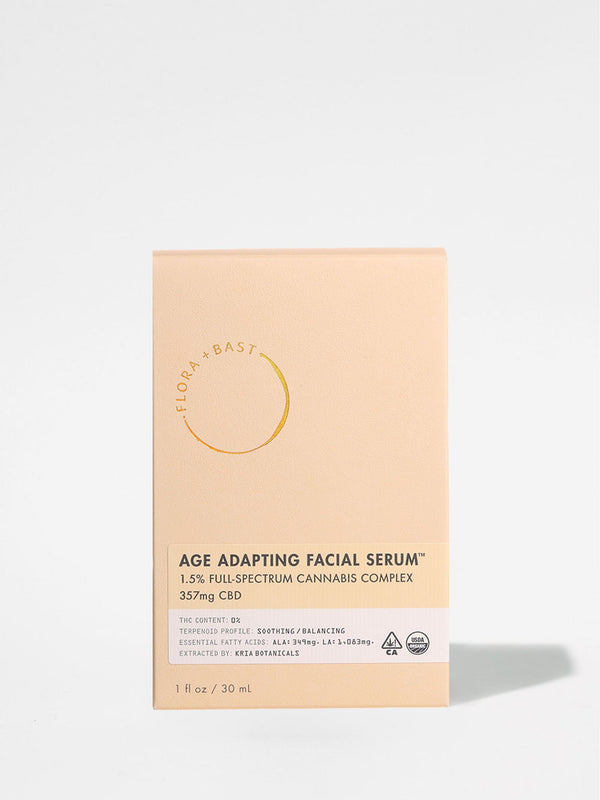 Flora + Bast Age Adapting Facial Serum outer box