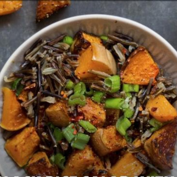 Black Rice Salad With Butternut
