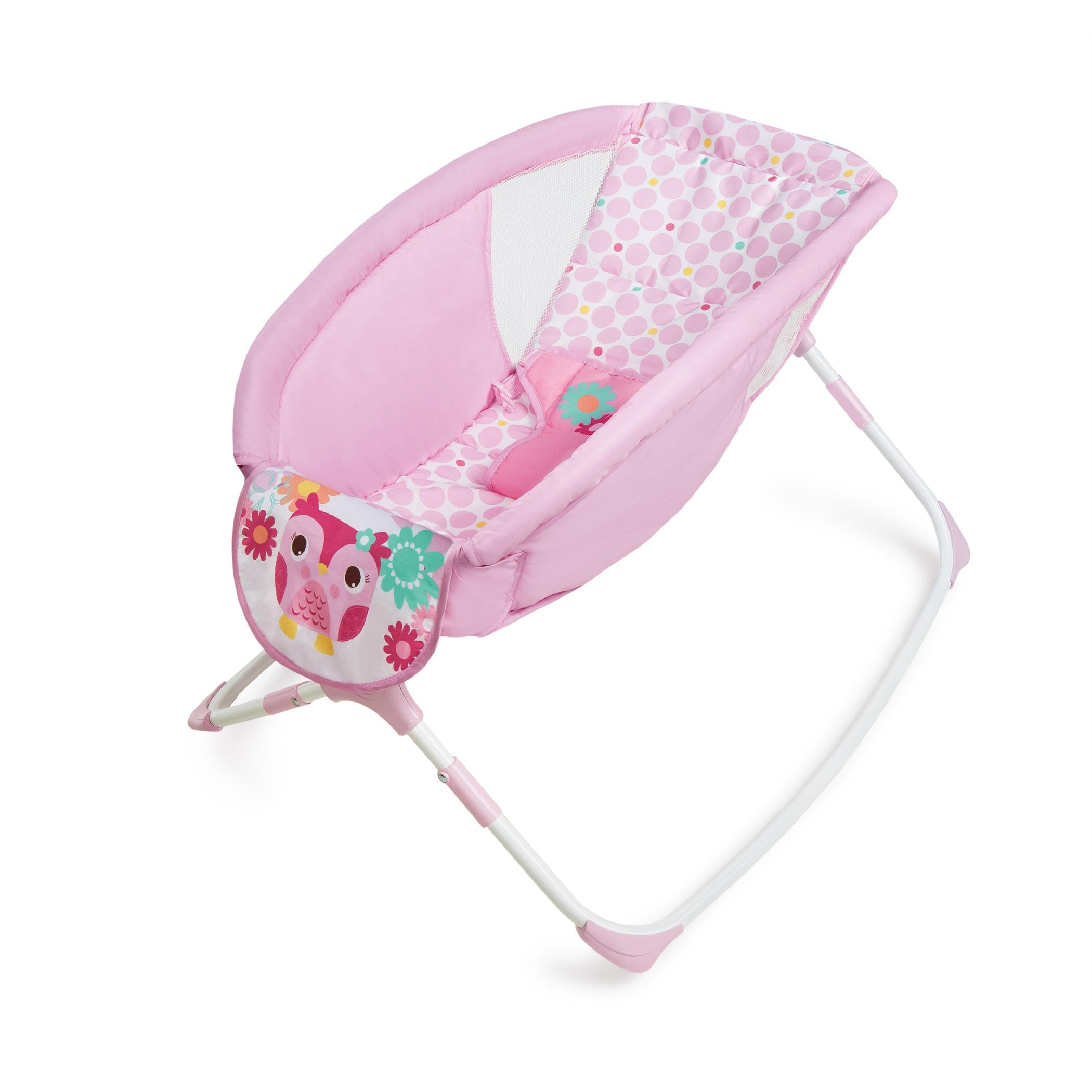 Bright Starts Pretty In Pink Playtime To Bedtime Rocking Sleeper - Model 10178