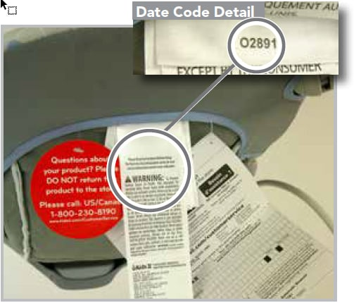 Date code Ingenuity Automatic Bouncer Seat Pad