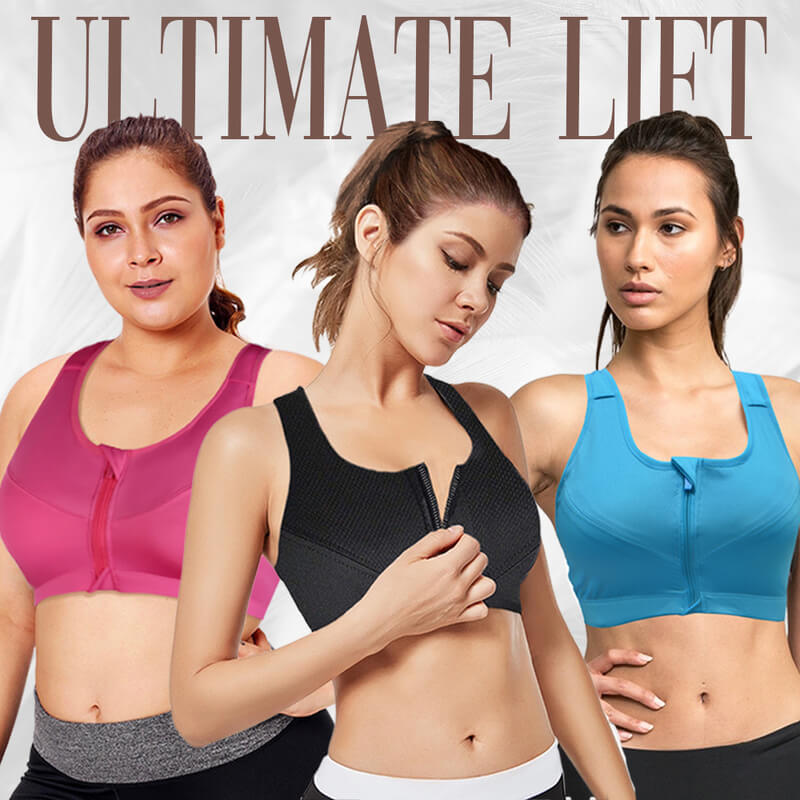 LIZ BRA – Plus Size Active Comfort Breathable Front Zip Bra (From S To 5XL)