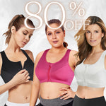 Load image into Gallery viewer, LIZ BRA – Plus Size Active Comfort Breathable Front Zip Bra (From S To 5XL)