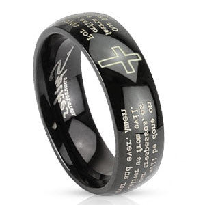 The Lord's Prayer Stainless Steel Ring - Empress of Virtue