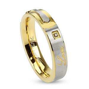 Love and Cross Stainless Steel Ring - Empress of Virtue