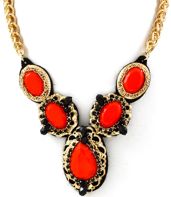 Orange Drop Necklace - Empress of Virtue - 1