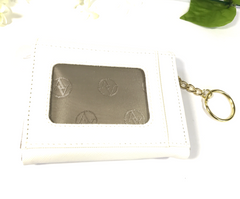 Adrienne Vittadini Small Keychain Purse/Wallet (White) - Empress of Virtue