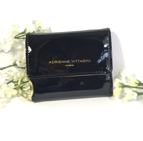 Adrienne Vittadini Small Keychain Purse/Wallet (Black)