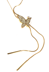 Butterfly Tassels Pendant Necklace