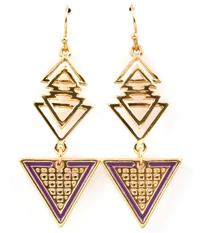 Pyramid Earrings - Empress of Virtue