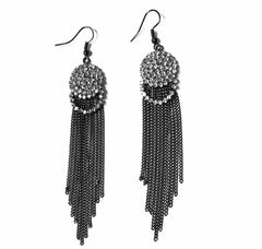 Art Deco Tassel Earrings.   Follow us on Instagram and Facebook our weekly lookbook showcasing #EmpressofVirtue 's Styles.