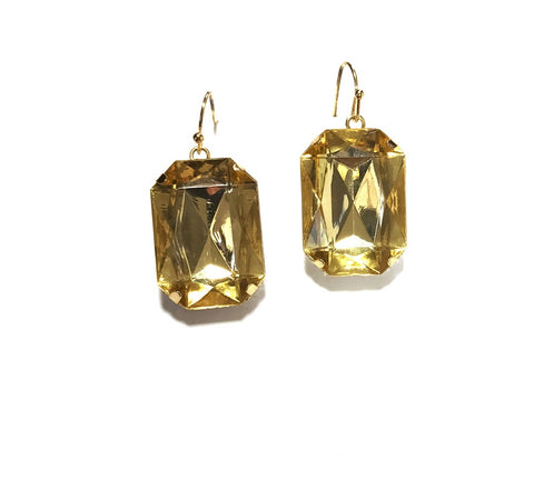 Box Shaped Gem Earrings