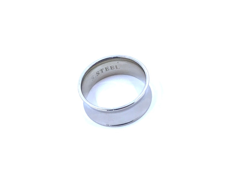 Stainless Steel Ring, The Concave Stainless Steel Ring - Empress of Virtue