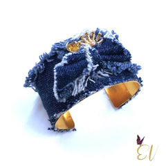 Denim Cuff Bracelet - Empress of Virtue