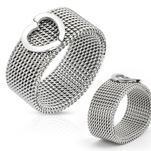 Woven Stainless Steel Ring - Empress of Virtue
