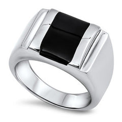 Stainless Steel Ring, Steel Square Ring - Empress of Virtue