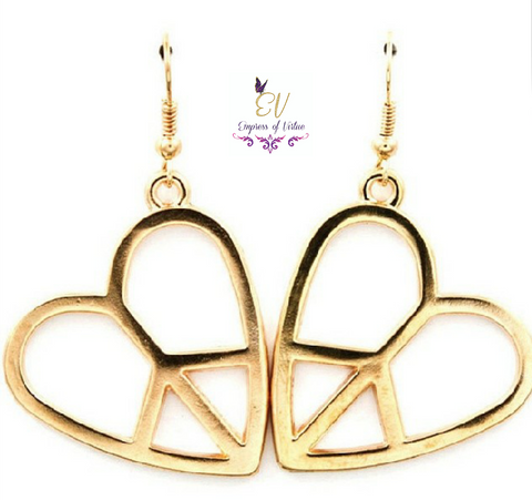 Heart Peace Earrings