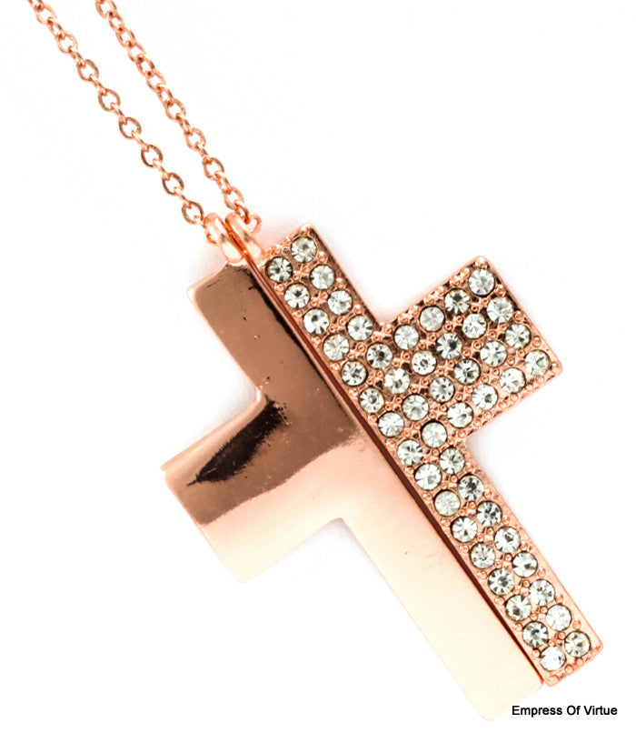 Split Cross Necklace - Empress of Virtue