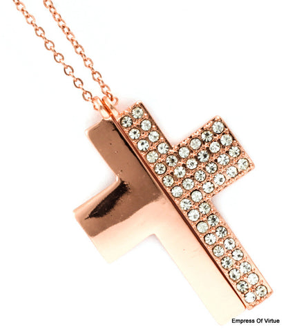 Split Cross Necklace