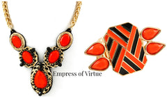 Orange Drop Necklace - Empress of Virtue - 2