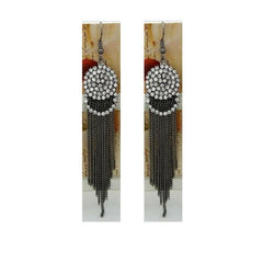Art Deco Tassel Earrings - Empress of Virtue - 1